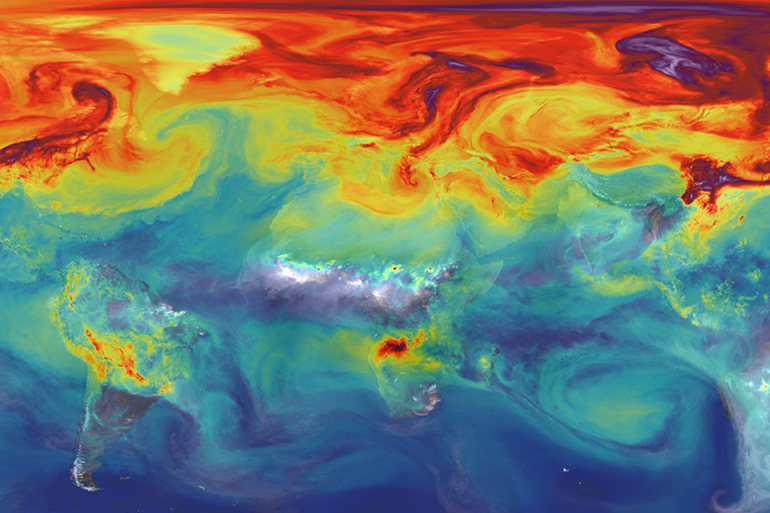 Nasa image carbon dioxide climate change