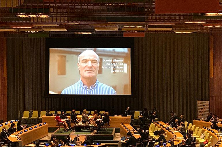 David Simon UN General Assembly UN Habitat