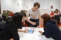 Pupils playing Future Hapiness Challenge