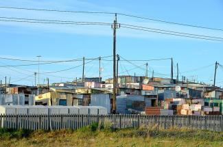 Khayelitsha informal settlement in Cape Town
