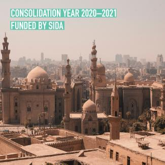 Cairo text Consolidation Year Funded by Sida