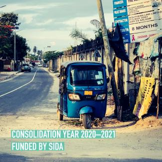 Dar Es Salaam road picture and caption Consolidation phase funded by sida